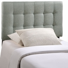 Modway Lily Twin Tufted Upholstered Fabric Headboard in Gray MY-MOD-5148-GRY