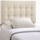 Modway Lily Twin Tufted Upholstered Fabric Headboard in Ivory MY-MOD-5148-IVO