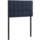 Modway Lily Twin Tufted Upholstered Fabric Headboard in Navy MY-MOD-5148-NAV