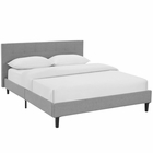 Modway Linnea Full Upholstered Fabric Bed in Light Gray MY-MOD-5424-LGR