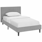 Modway Linnea Twin Upholstered Fabric Bed in Light Gray MY-MOD-5422-LGR
