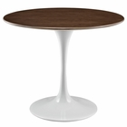 "Modway Lippa 36"" Round Walnut Top Dining Table in Walnut MY-EEI-1136-WAL"