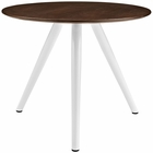 "Modway Lippa 36"" Round Walnut Top Dining Table with Tripod Base in Walnut MY-EEI-2523-WAL"