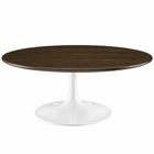 "Modway Lippa 40"" Wood Coffee Table in Walnut MY-EEI-1654-WAL"