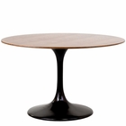 "Modway Lippa 48"" Round Walnut Top Dining Table in Black MY-EEI-523-BLK"
