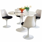 Modway Lippa 5 Piece Fiberglass Dining Set in Black MY-EEI-854-BLK