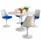 Modway Lippa 5 Piece Fiberglass Dining Set in Blue MY-EEI-854-BLU