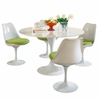 Modway Lippa 5 Piece Fiberglass Dining Set in Green MY-EEI-854-GRN