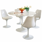 Modway Lippa 5 Piece Fiberglass Dining Set in White MY-EEI-854-WHI