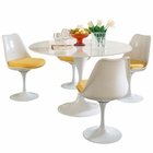 Modway Lippa 5 Piece Fiberglass Dining Set in Yellow MY-EEI-854-YLW