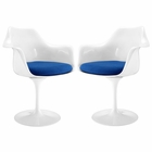 Modway Lippa Dining Armchair Upholstered Fabric Set of 2 in Blue MY-EEI-1259-BLU