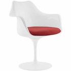 Modway Lippa Dining Faux Leather Armchair in Red MY-EEI-1595-RED