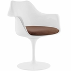 Modway Lippa Dining Faux Leather Armchair in Tan MY-EEI-1595-TAN