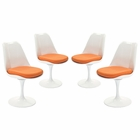 Modway Lippa Dining Side Chair Upholstered Fabric Set of 4 in Orange MY-EEI-1342-ORA