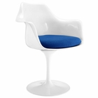 Modway Lippa Dining Upholstered Fabric Armchair in Blue MY-EEI-116-BLU