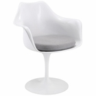 Modway Lippa Dining Upholstered Fabric Armchair in Gray MY-EEI-116-GRY