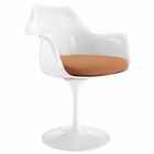 Modway Lippa Dining Upholstered Fabric Armchair in Orange MY-EEI-116-ORA