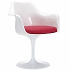 Modway Lippa Dining Upholstered Fabric Armchair in Red MY-EEI-116-RED