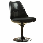 Modway Lippa Dining Upholstered Fabric Side Chair in Black MY-EEI-199-BLK