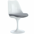 Modway Lippa Dining Upholstered Fabric Side Chair in Gray MY-EEI-115-GRY