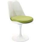 Modway Lippa Dining Upholstered Fabric Side Chair in Green MY-EEI-115-GRN