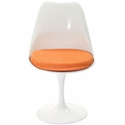 Modway Lippa Dining Upholstered Fabric Side Chair in Orange MY-EEI-115-ORA
