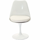 Modway Lippa Dining Upholstered Fabric Side Chair in White MY-EEI-115-WHI