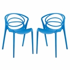 Modway Locus Dining Set Set of 2 in Blue MY-EEI-2335-BLU-SET