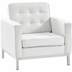 Modway Loft Leather Armchair in White MY-EEI-2781-WHI