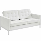 Modway Loft Leather Loveseat in White MY-EEI-2780-WHI