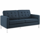 Modway Loft Upholstered Fabric Loveseat in Azure MY-EEI-2051-AZU