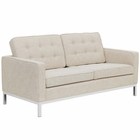 Modway Loft Upholstered Fabric Loveseat in Beige MY-EEI-2051-BEI