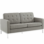 Modway Loft Upholstered Fabric Loveseat in Granite MY-EEI-2051-GRA