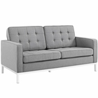 Modway Loft Upholstered Fabric Loveseat in Light gray MY-EEI-2051-LGR
