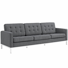 Modway Loft Upholstered Fabric Sofa in Gray MY-EEI-2052-DOR