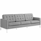 Modway Loft Upholstered Fabric Sofa in Light Gray MY-EEI-2052-LGR