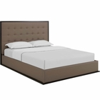 Modway Madeline Queen Faux Leather Bed Frame in Cappuccino Brown MY-MOD-5498-CAP-BRN