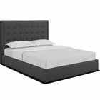 Modway Madeline Queen Faux Leather Bed Frame in Cappuccino Gray MY-MOD-5498-CAP-GRY