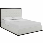 Modway Madeline Queen Faux Leather Bed Frame in Cappuccino White MY-MOD-5498-CAP-WHI