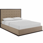 Modway Madeline Queen Upholstered Fabric Bed Frame in Cappuccino Cafe MY-MOD-5499-CAP-CAF