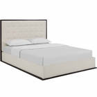 Modway Madeline Queen Upholstered Fabric Bed Frame in Cappuccino Ivory MY-MOD-5499-CAP-IVO