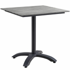 """Modway Maine 28"""" Outdoor Patio Aluminum Dining Table in Brown Gray MY-EEI-1514-BRN-GRY"""