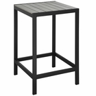Modway Maine Outdoor Patio Aluminum Bar Table in Brown Gray MY-EEI-1511-BRN-GRY