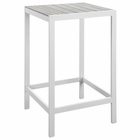 Modway Maine Outdoor Patio Aluminum Bar Table in White Light Gray MY-EEI-1511-WHI-LGR