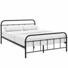 Modway Maisie Full Steel Bed Frame in Brown MY-MOD-5532-BRN-SET