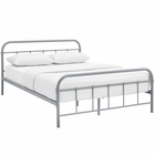 Modway Maisie Queen Steel Bed Frame in Gray MY-MOD-5533-GRY-SET
