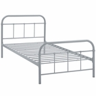 Modway Maisie Twin Steel Bed Frame in Gray MY-MOD-5531-GRY-SET