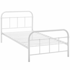 Modway Maisie Twin Steel Bed Frame in White MY-MOD-5531-WHI-SET