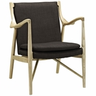 Modway Makeshift Upholstered Fabric Lounge Chair in Natural Brown MY-EEI-1440-NAT-BRN