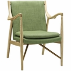 Modway Makeshift Upholstered Fabric Lounge Chair in Natural Green MY-EEI-1440-NAT-GRN